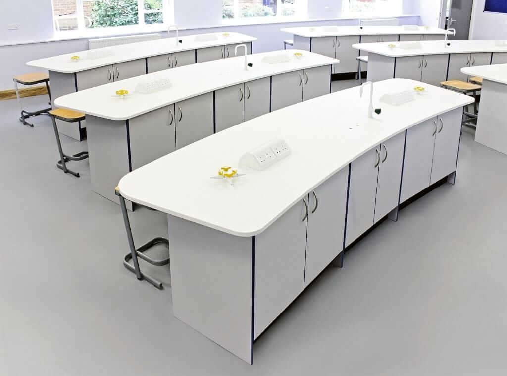 Pinnacle Educational Furniture for Ranelagh Church of England School - Science Laboratory Refurbishment Student Work Area