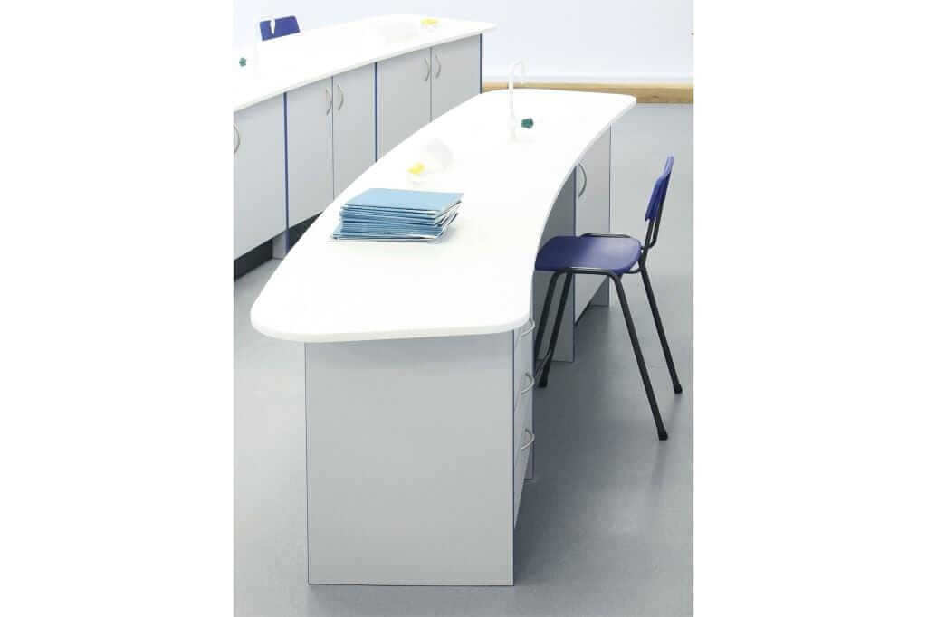 Pinnacle Educational Furniture for Ranelagh Church of England School - Science Laboratory Refurbishment Teachers Area