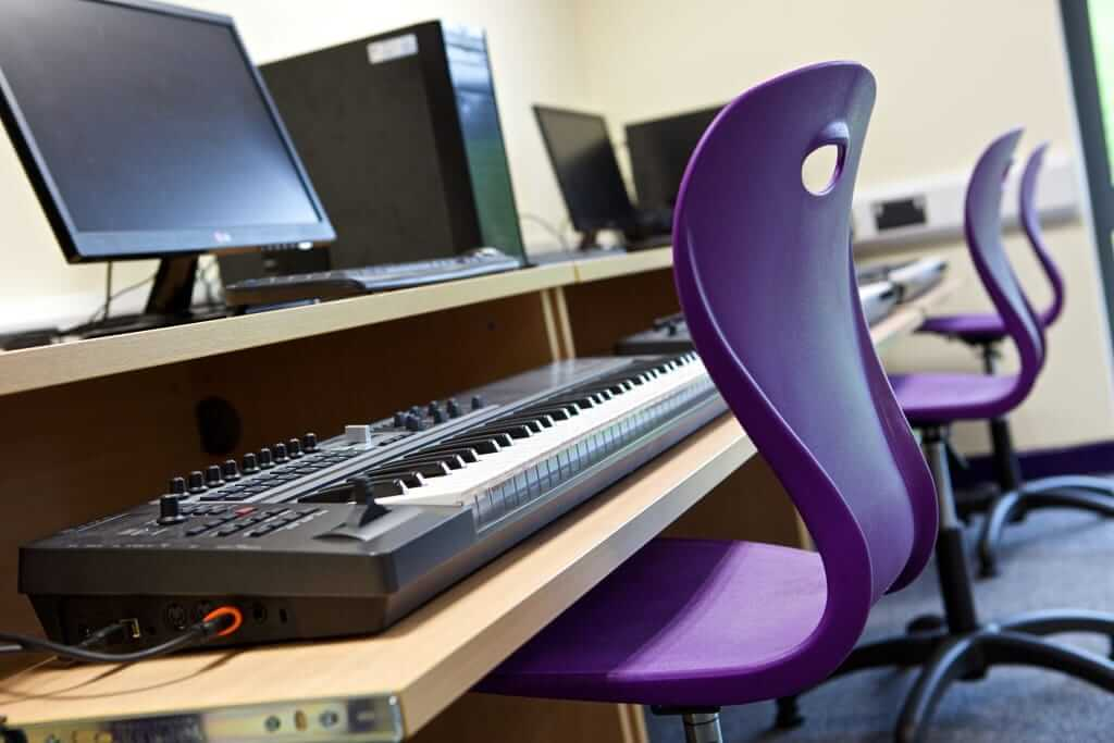 Pinnacle Educational Furniture for Christ the King College - New Music Room